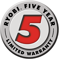 Ryobi five year warranty